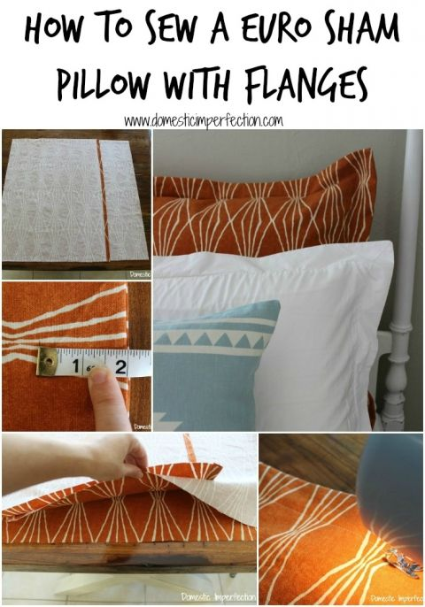 How to make a euro sham pillow