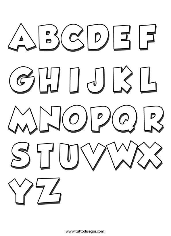 Alfabeto Da Colorare Tuttodisegnicom Alfabeto Pinterest