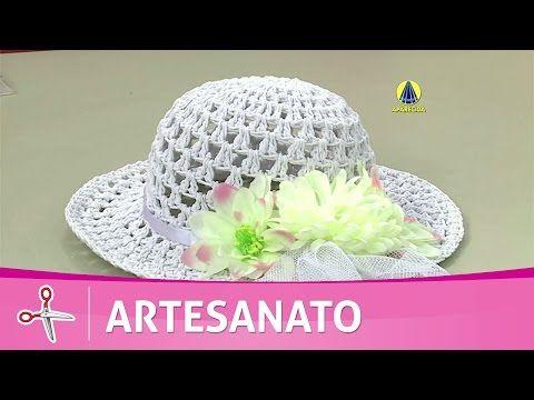 Vida com Arte | Chapéu em crochê endurecido por Carmem Freire - 13 de junho de 2016 - YouTube