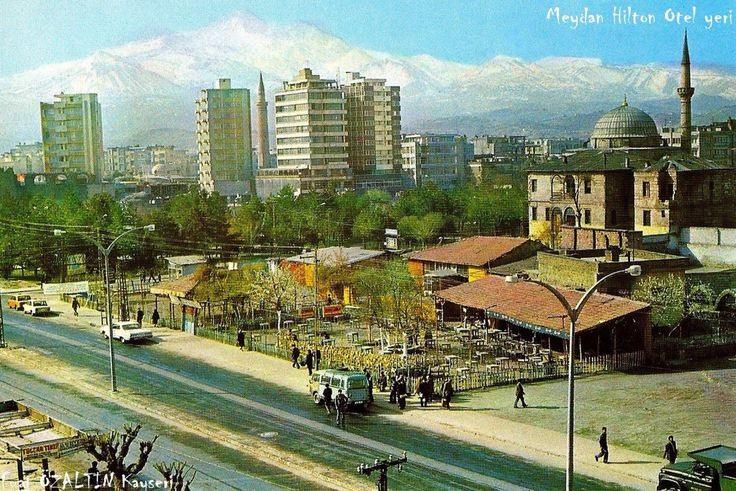 "Middle Anatolia City Kayseri (Caesarea) Old Photos ""Mimarsinan Parkı"" [Architect Sinan Park]"