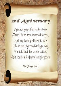 1st Year Wedding Anniversary Poems
