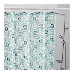 IKEA - INGEBORG, Rideau de douche, Polyester tissé serré avec revêtement imperméable.L