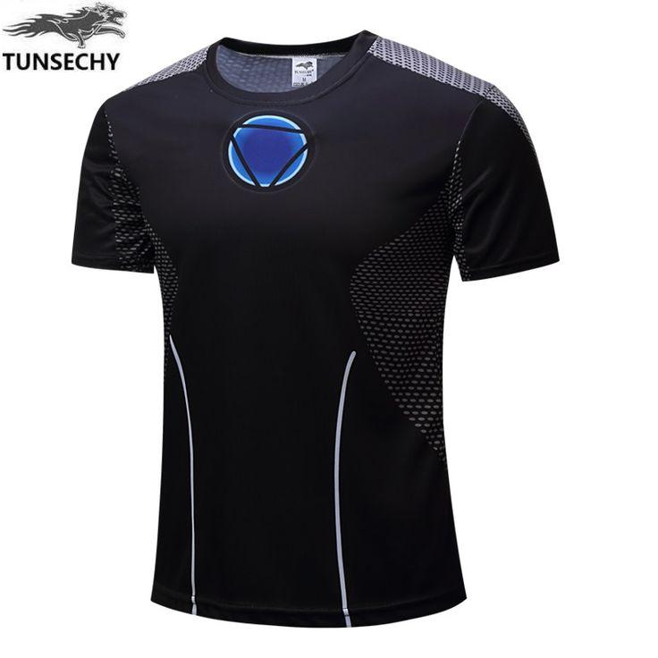 Men's short-sleeved shirt superman Captain America T-shirt male / female fun graphics 3D casual round neck T-shirt tight shirt #Affiliate