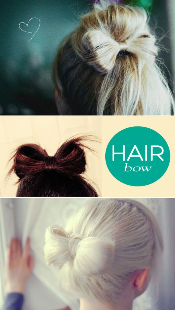 """Could the """"hair bow"""" be the new top knot? I really want to try this!"""