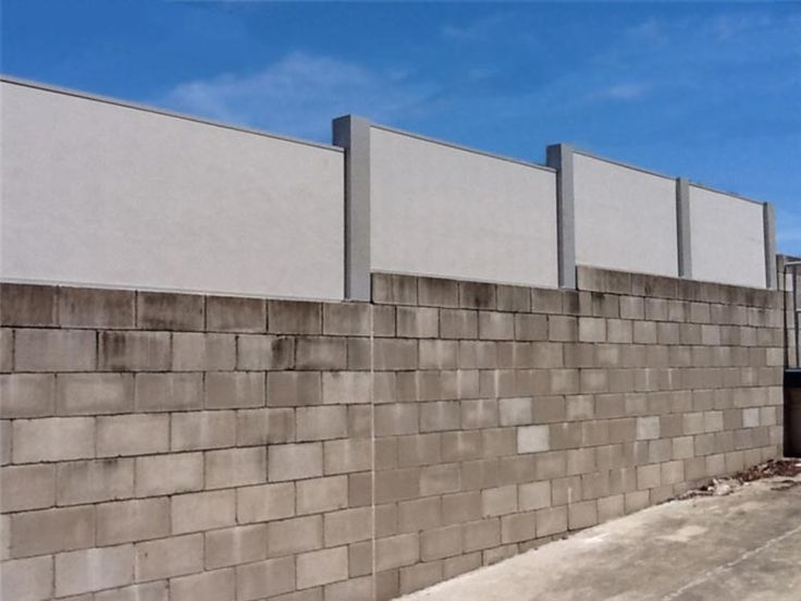 Acoustic Wallmark fence Product on blockwall