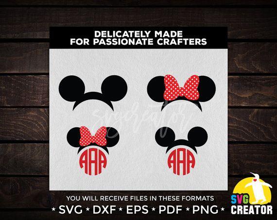 Mickey Ears svg Minnie Ears svg DISNEY SVG Disney by SVGCREATOR