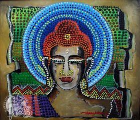 """Lord Buddha"" | Artist : Herry Ashari | Material : Acrylic on Canvas |"