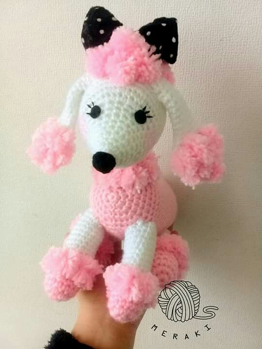 Meet the Poodle Family Mama Papa and Baby Crochet Toy Pattern