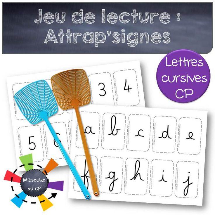 """""""Attrap'signes"""" adaptation du jeu des syllabes pour renforcer la reconnaissance des signes d'écriture : lettres,chiffres,ponctuation. Cartes pour la GS et le CP !"""
