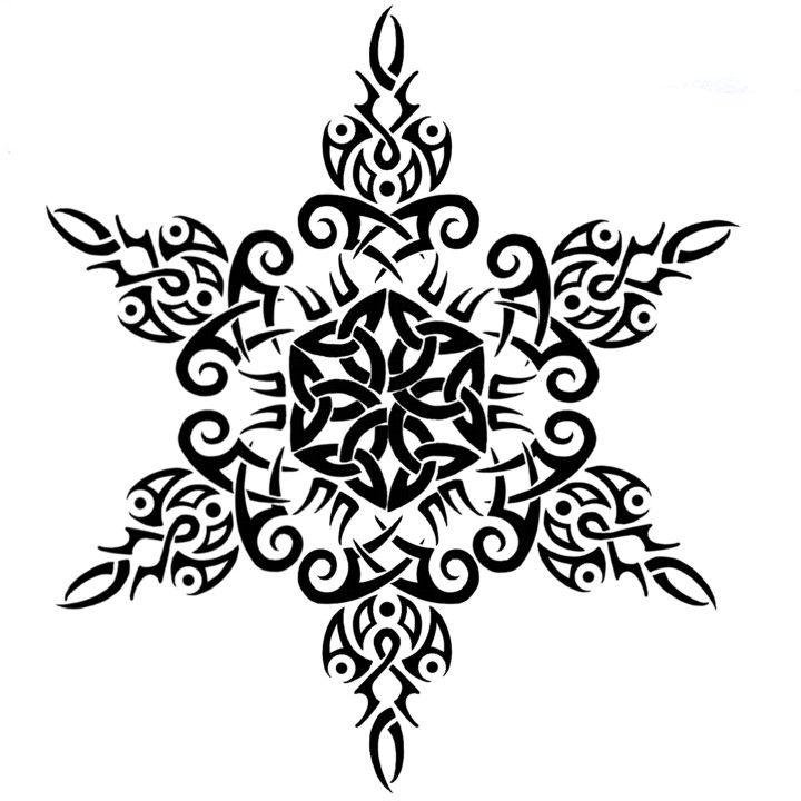 TribalCeltic_Snowflake_Tattoo2_by_Annikki.jpg 720×720 pixels