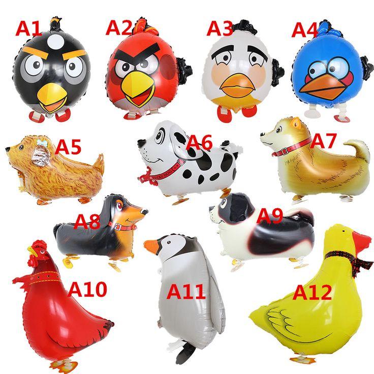 Одна часть 60 см надувные игрушки животных домашних собак шары птица прогулки шар день рождения ну вечеринку украшения globos детей ну вечеринку игрушки купить на AliExpress
