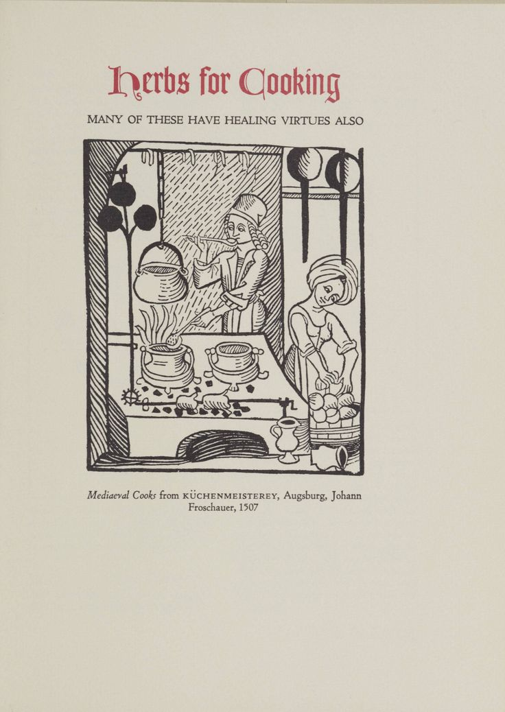 """""""Herbs for the mediaeval household, for cooking, healing and divers uses"""" by Margaret B. Freeman, 1979. Metropolitan Museum of Art (New York, N.Y.), Metropolitan Museum of Art Publications. #medieval #herbs"""