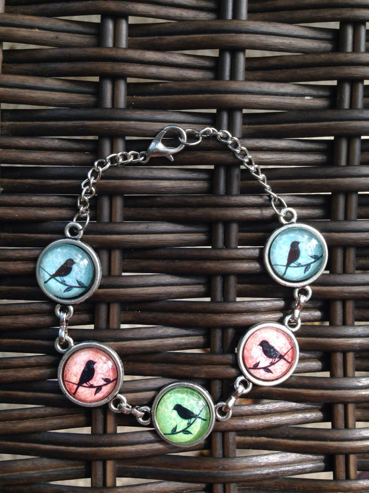 Multi Colour Bird Silhouette Bracelet - pinned by pin4etsy.com