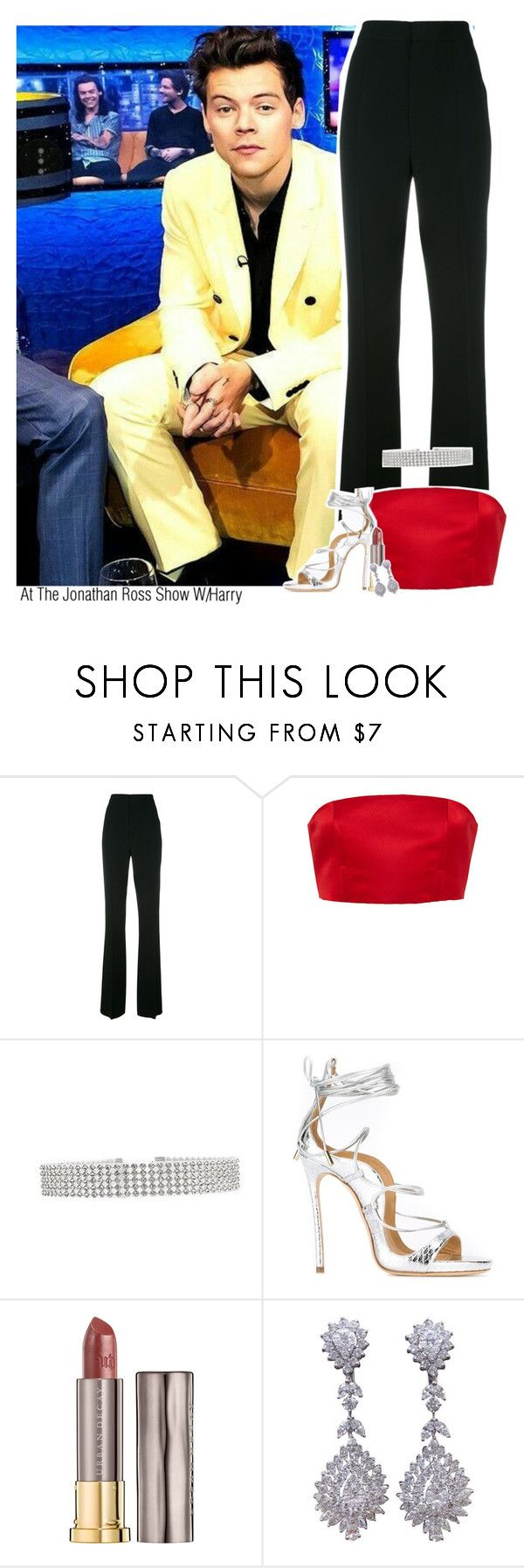 """""""At The Jonathan Ross Show W/Harry"""" by jhessicakauana ❤ liked on Polyvore featuring Dsquared2, Katie Ermilio and Urban Decay"""