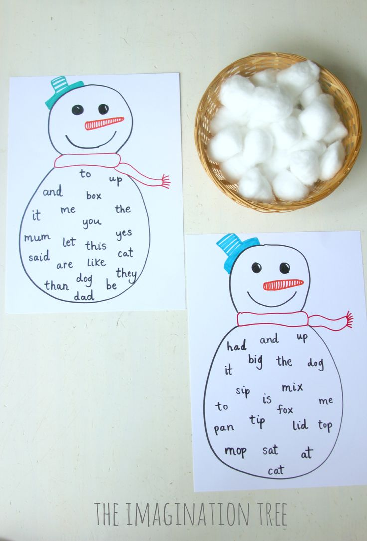 Sight word snowman bingo game.