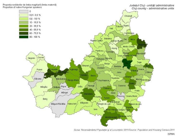 Magyar anyanyelvűek (Kolozs megye 2011)