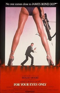 """For Your Eyes Only (1981) is the twelfth spy film in the James Bond series and the fifth to star Roger Moore as the fictional MI6 agent James Bond. It marked the directorial debut of John Glen, who had worked as editor and second unit director in three other Bond films. The screenplay by Richard Maibaum and Michael G. Wilson takes its characters and combines the plots from two short stories from Ian Fleming's For Your Eyes Only collection: the title story and """"Risico""""."""