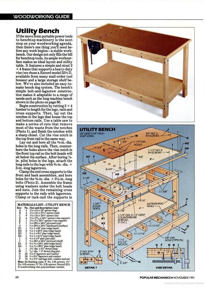 Popular Mechanics Workbench Plans - WoodWorking Projects ...