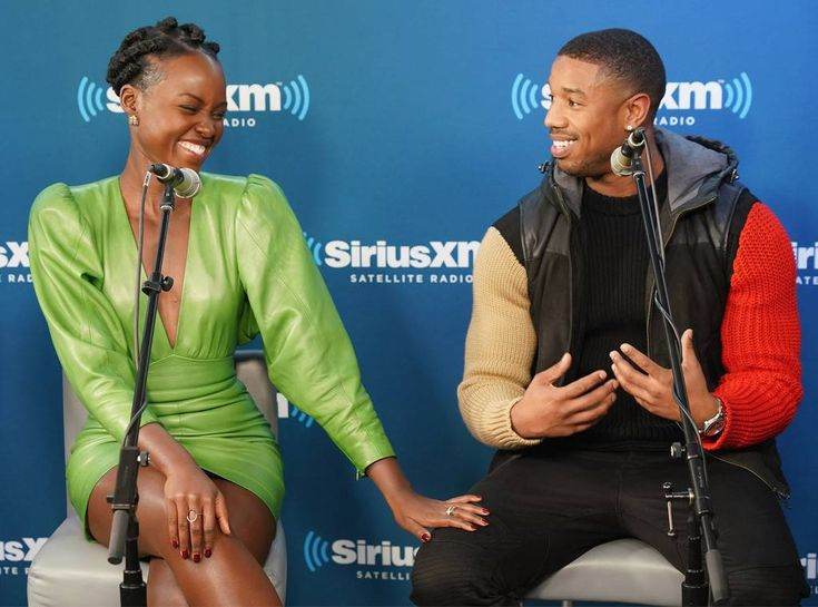 Lupita Nyong'o & Michael B. Jordan from The Big Picture: Today's Hot Photos  Dynamic duo! The Black Panther co-stars share a laugh during an interview with SiriusXM in New York.