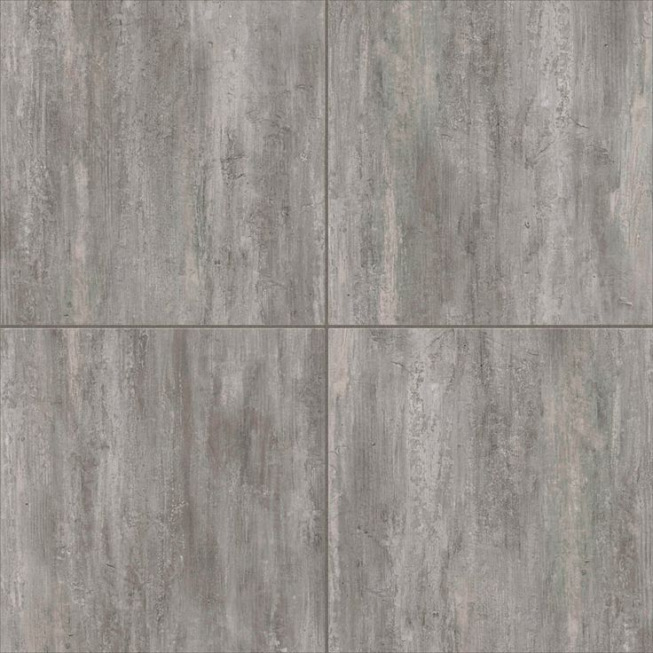 Ultra Ceramic grouted floor, Lux Stonewood Dark Grey 18x18