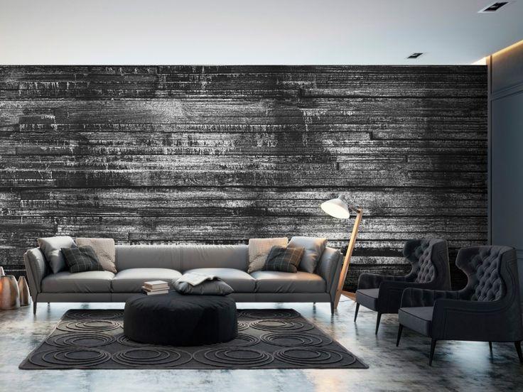 Choisissez des nuances grises pour créer une ambiance élégante dans votre intérieur #papierpeint #papierspeints #décomurale #bois #gris #élégant #bimago