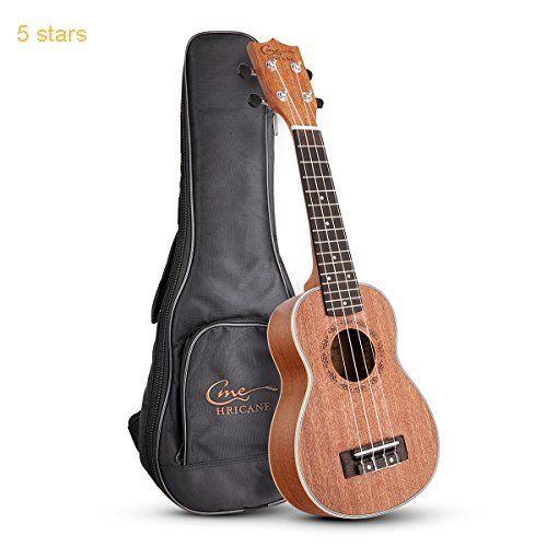 Hricane UKS-1 Soprano 21inch Professional Ukulele Starter Small Guitar Pack with Gig Bag