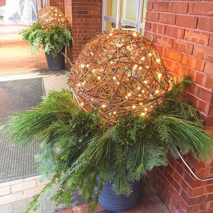 Wicker ball for holiday decor | Delta Beausejour