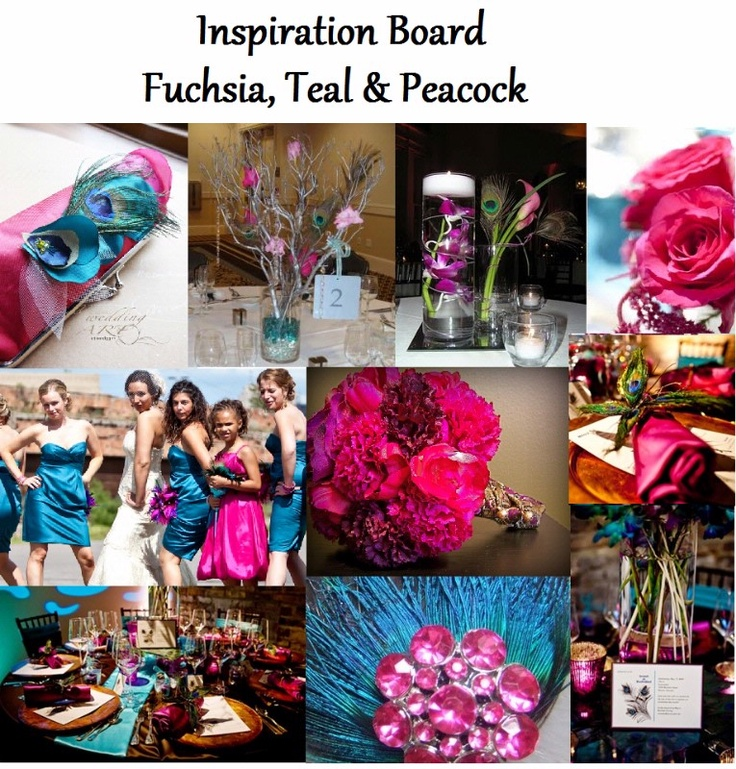 Teal And Fuchsia Wedding Colors: 17 Best Images About Teal And Fuchsia Wedding Theme On