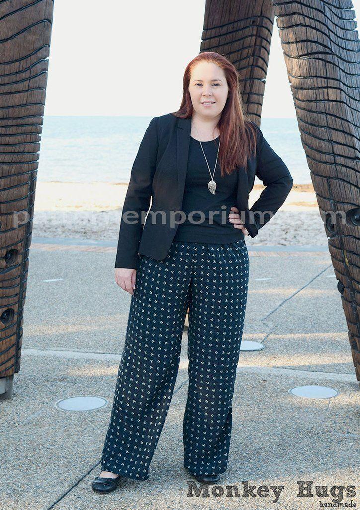 PDF Pattern: Ladies Coco Wide Leg Pants