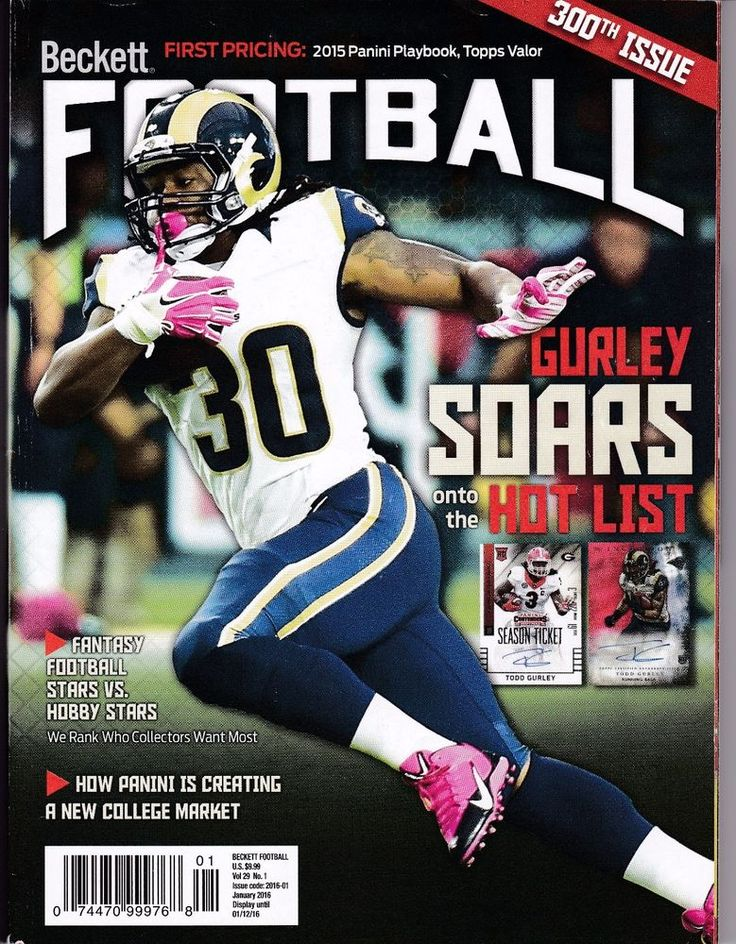 2016 Beckett Football Price Guide Jan. Todd Gurley Soars Onto The Hot List Cover
