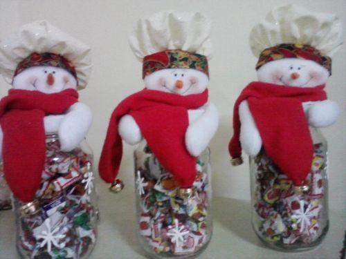 Frascos muñecos navideños