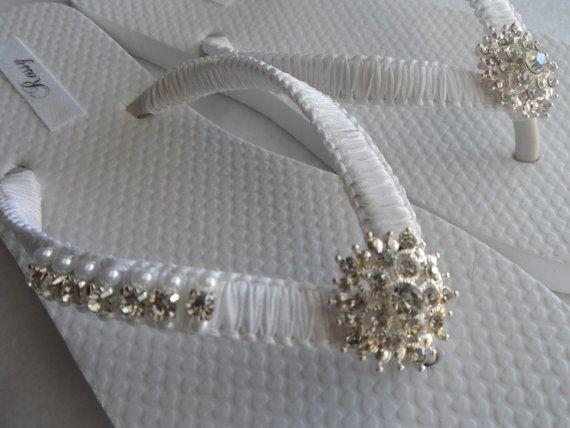 Blanco los fracasos de tirón de la boda / novia perlas