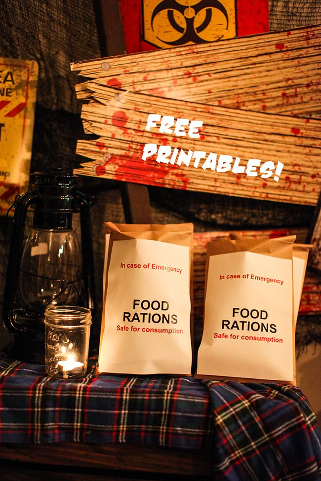 These free printables will have you ready for any zombie party!   Fear The Walking Dead Party Printables