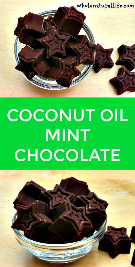 Coconut oil recipe | Coconut oil chocolate | Coconut oil fat bombs | Homemade mint chocolate