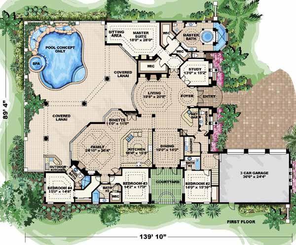 spanish style home plans | ideasidea