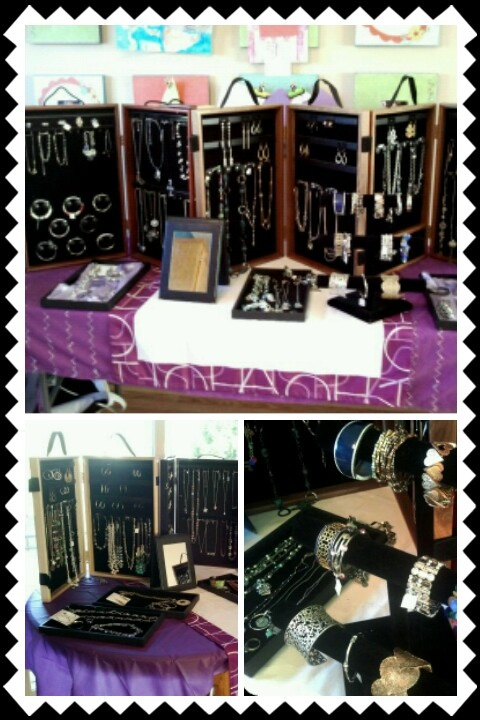 Lia Sophia Jewelry displayed at a party!  Call me to have a party of your own!!  952-212-2900