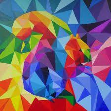 Afbeeldingsresultaat voor driehoek schilderij kunst
