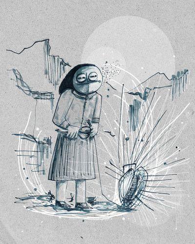 Atropo a Jerzu. #viaggioInSardegna #illustration #FedericaTeti #mithology #Jerzu #Moire