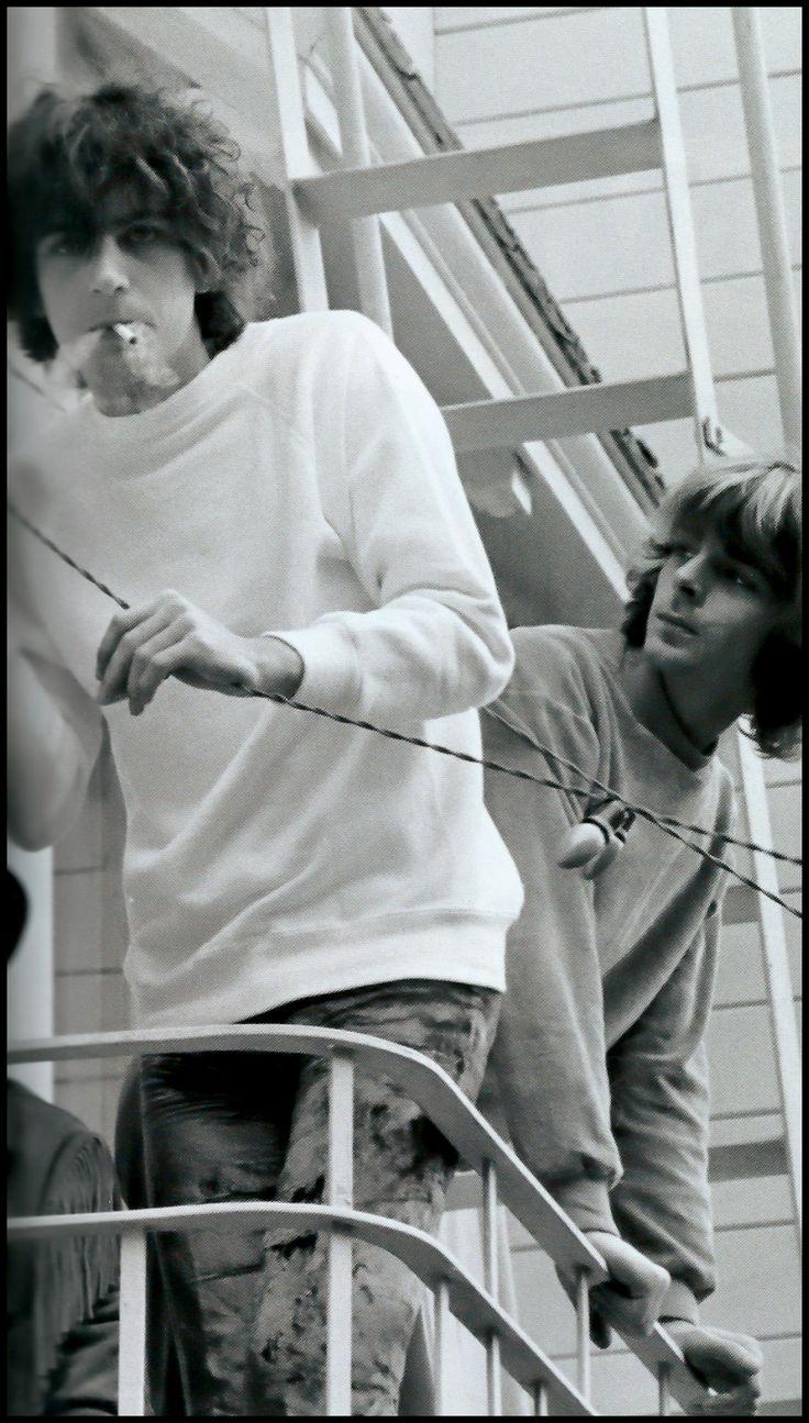 Syd Barrett and Richard Wright in California, 1967.