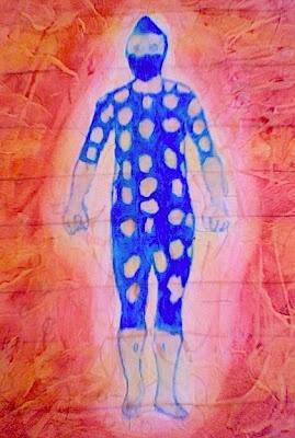 Blue Selknam Figure by GJ Gillespie