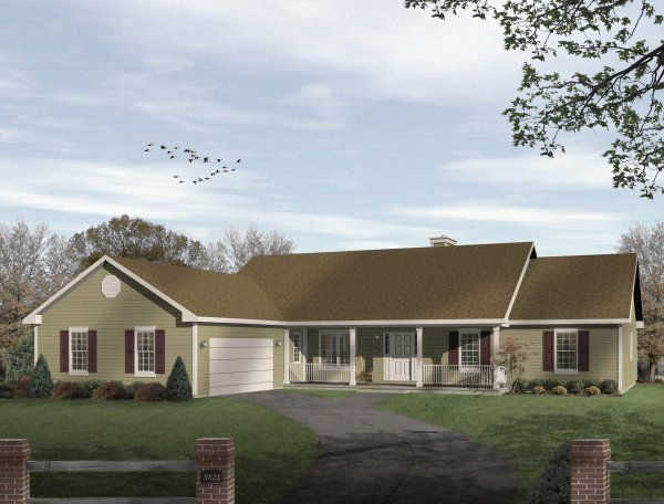 Smart and efficient this traditional ranch is designed for Economical ranch house plans