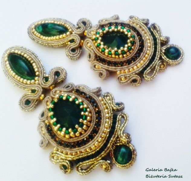 "Kolczyki+sutasz+(earrings+soutache)+""Persia""+w+Galeria+Bajka+Soutache+Jewelry+na+DaWanda.com"