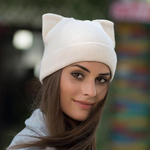 YWMQFUR Winter thicker hat for women high quality knitted wool beanies hat cat ear stylish cap 2017 new fashion lovely cap H123