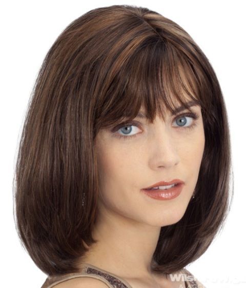 Medium Length Hairstyles for Round Faces With Bangs ...