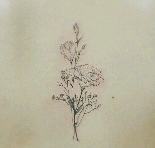 back tattoo, flower, and minimal afbeelding