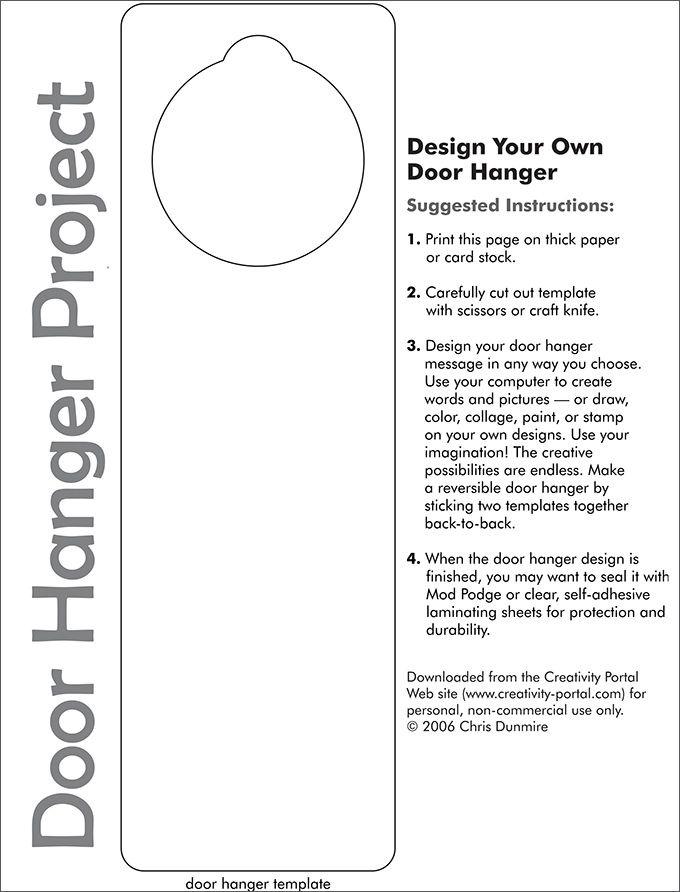 Door Hanger Template | Free & Premium Templates