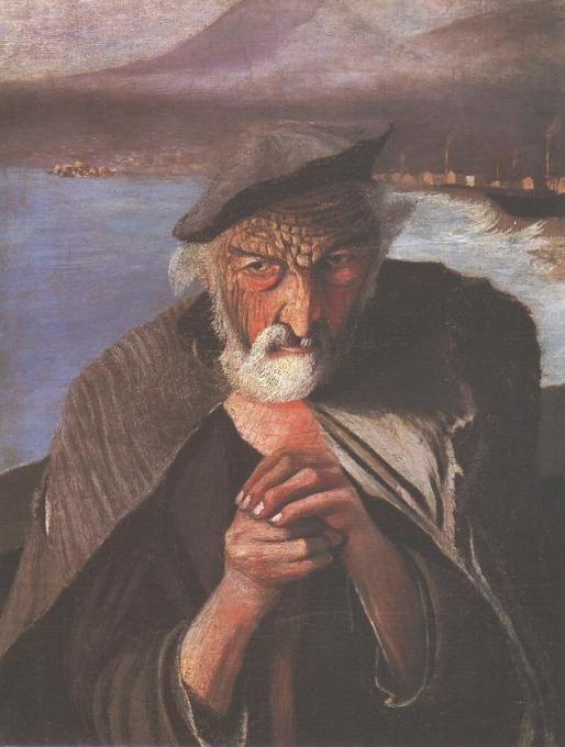 Csontváry Kosztka Tivadar: Öreg halász (1902.)