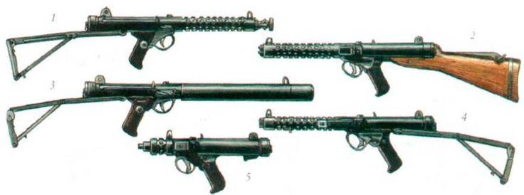 Пистолеты-пулеметы Британского производства.