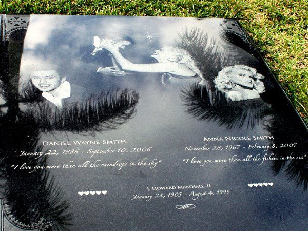 Graves of the Rich & Famous | Iconic Graves of the Rich and Famous Anna Nichole Smith & Son, Daniel Wayne Smith