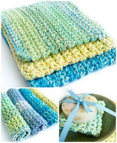 Easy crochet dishcloth - free pattern
